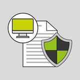Internet security document computer protection Stock Photography