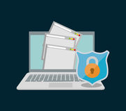 Internet security document file page web padlock Stock Photo