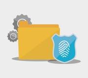 Internet security file folder password fingerprint. Illustration eps 10 Stock Images