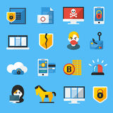 Internet Security Flat Icons Set Stock Image