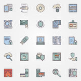 Internet security flat icons Stock Image