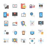 Internet Security Icons Flat Design Stock Photo