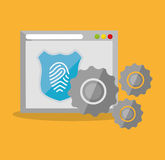 Internet security home page finger print technology. Illustration eps 10 Royalty Free Stock Photo