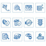 Internet Security icon. A set of web icons with light reflections Royalty Free Stock Photos