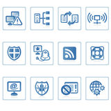 Internet and Security icon II. A set of web icons with light reflections royalty free illustration