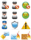 Internet security icons Stock Images