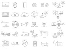 Internet security icons Royalty Free Stock Photos