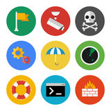 Internet security icons set Stock Image