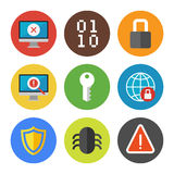 Internet security icons set Royalty Free Stock Photos