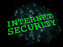 Internet Security. Information Technology Concept. Internet Security - Information Technology Concept. The Word in Green Color on Digital Background Stock Photos