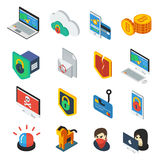 Internet Security Isometric Icons Set Stock Images