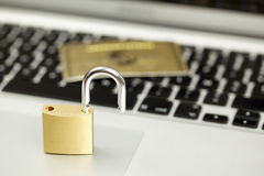 Internet Security, keyboard  lock unlocked Royalty Free Stock Images