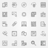 Internet security line icons Royalty Free Stock Images