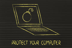 Internet security and malware threats Stock Photography