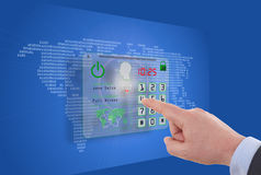 Internet security online business concept Stock Photography