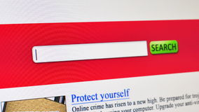 Internet Security online search Stock Images
