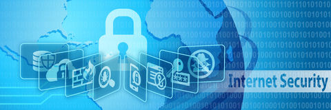 Internet Security Protection Banner Royalty Free Stock Photography