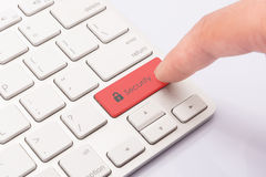 Internet Security Red Royalty Free Stock Photo