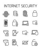 Internet security related vector icon set. Well-crafted sign in thin line style with editable stroke. Vector symbols isolated on a white background. Simple Stock Photography