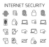 Internet security related vector icon set. royalty free illustration