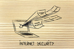 Internet security and the risks for confidential information royalty free stock image