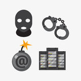 Internet security safety icon virus attack vector data protection technology network concept design. Stock Photos