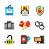 Internet security safety icon virus attack vector data protection technology network concept design. Stock Photo