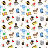 Internet Security Seamless Pattern Stock Images