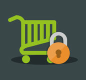 internet security shopping cart online Royalty Free Stock Photo