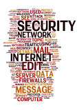 Internet security text cloud Stock Photos