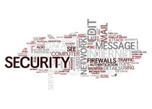 Internet security text cloud royalty free illustration