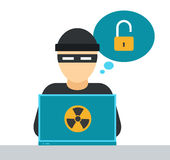 Internet security vector illustration Stock Image