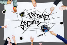 Internet Security Web Protection Safety Concept Stock Image
