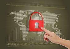 Internet seguro o bloqueado Imagen de archivo libre de regalías
