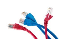 Internet-Seilzüge Stockfoto
