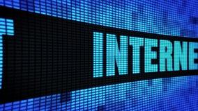 Internet-Seite simsen das In einer Liste verzeichnen des LED-Wand-Anzeigetafel-Zeichen-Brettes stock video
