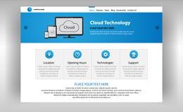Internet-Seite von Wolkentechnologien lizenzfreie abbildung