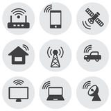 Internet semplice delle icone delle cose e della rete Immagine Stock