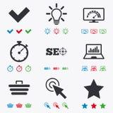 Internet, seo icons. Bandwidth speed sign Stock Photo