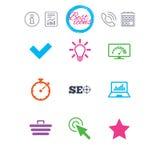 Internet, seo ikony Bandwidth prędkości znak ilustracji