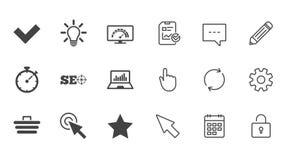 Internet, seo ikony Bandwidth prędkości znak ilustracja wektor