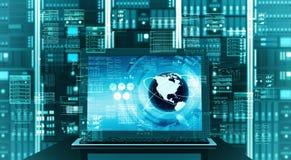 Internet server laptop Stock Photos