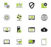 Internet server, nätverkssymbolsuppsättning stock illustrationer