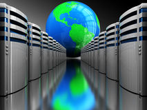 Internet servers stock illustration