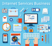 Internet Service Business Concept Graphic Design Royalty Free Stock Images