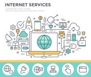 Internet service concept illustration. Stock Photos