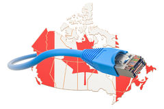 Internet service provider in Canada concept, 3D rendering. Isolated on white background Stock Images