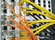 Internet service provider communications equipment Stock Photos