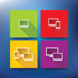 Internet service provider icons, eps 10 Royalty Free Stock Photos