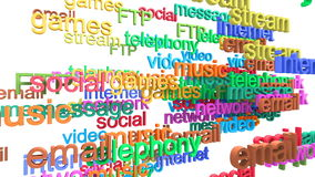 Internet services word cloud stock illustration